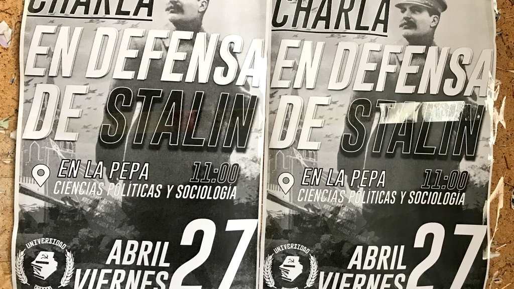 charla en defensa de Stalin