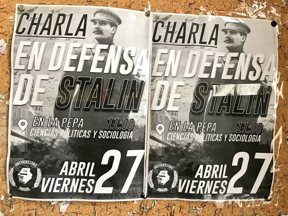 charla en defensa de Stalin
